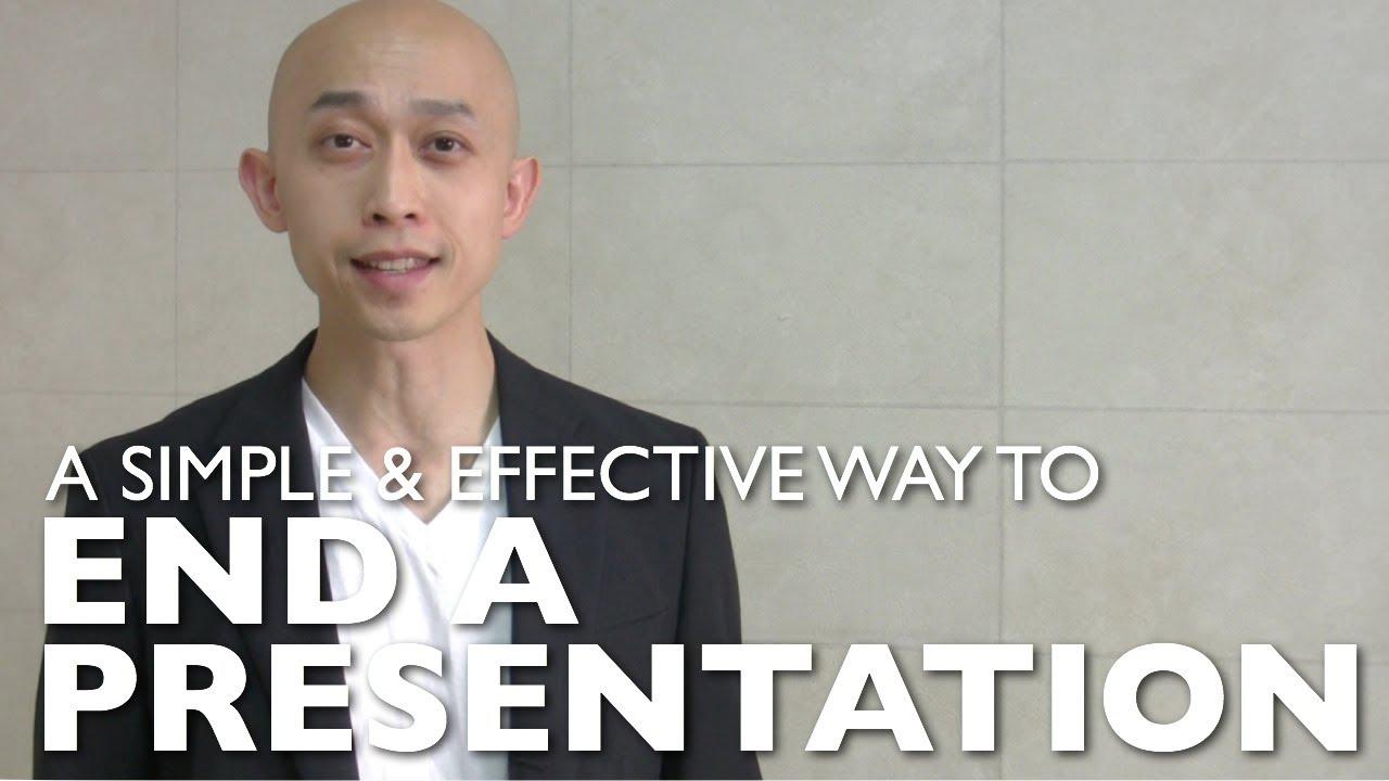 End a presentation