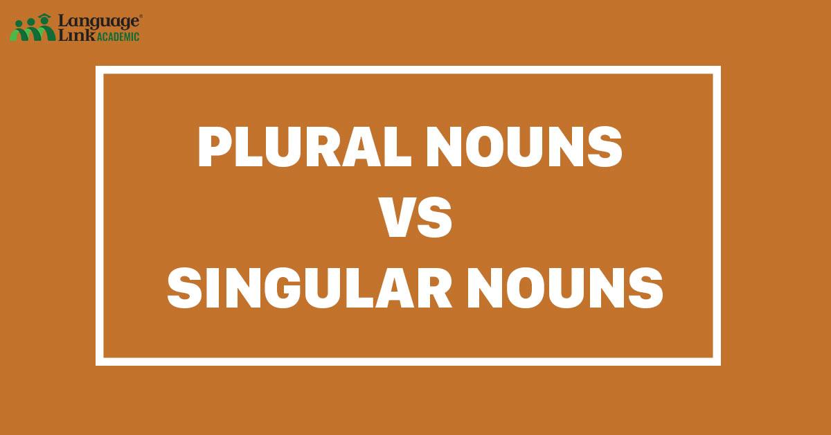 plural nouns vs singular nouns
