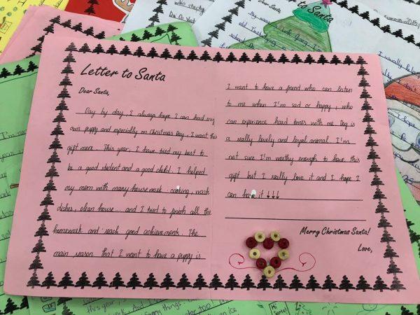 Bức thư gửi ông già Noel của bạn Phạm Hải Quyên