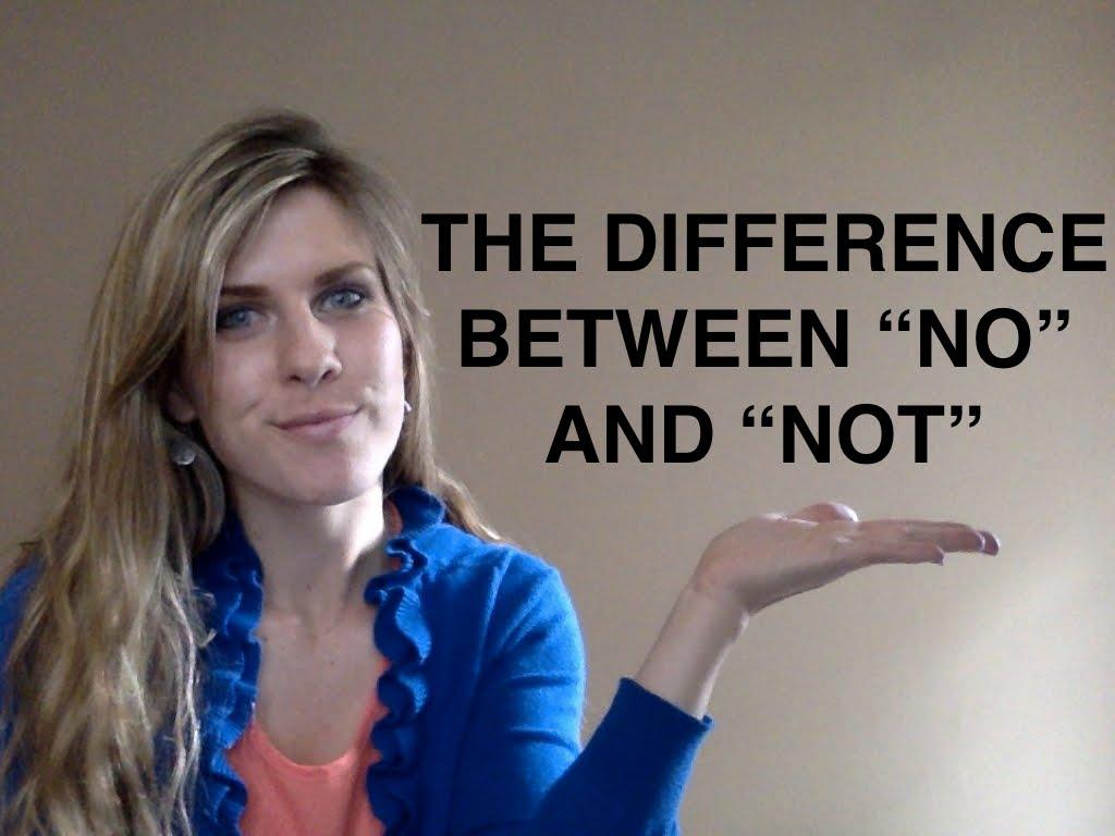 """Sử dụng """"no"""" và """"not"""" trong tiếng Anh"""