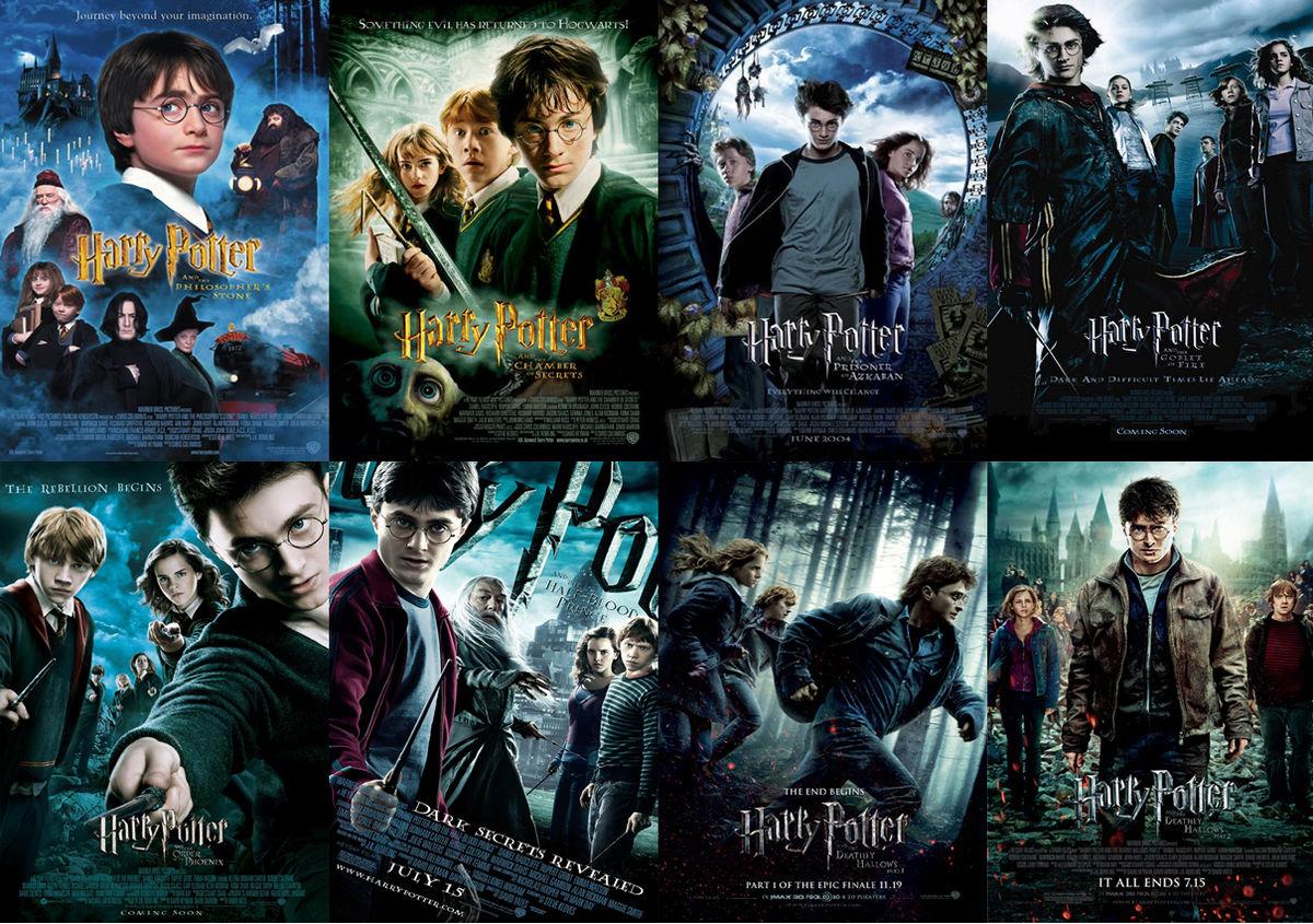 poster 8 phần phim Harry Poster - nền tảng của bài viết về bộ phim Harry Poster bằng tiếng Anh