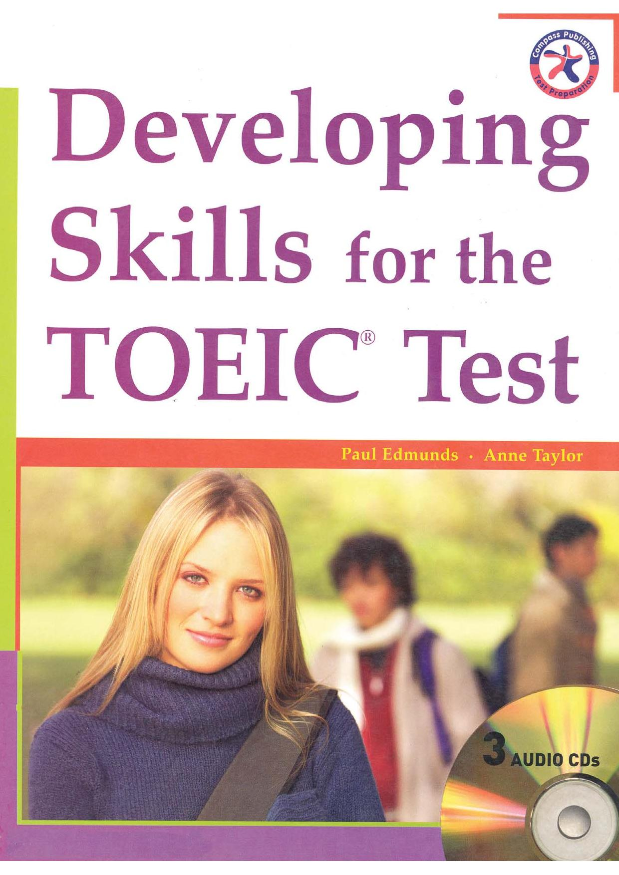 bìa cuốn sách Developing skills for TOEIC test