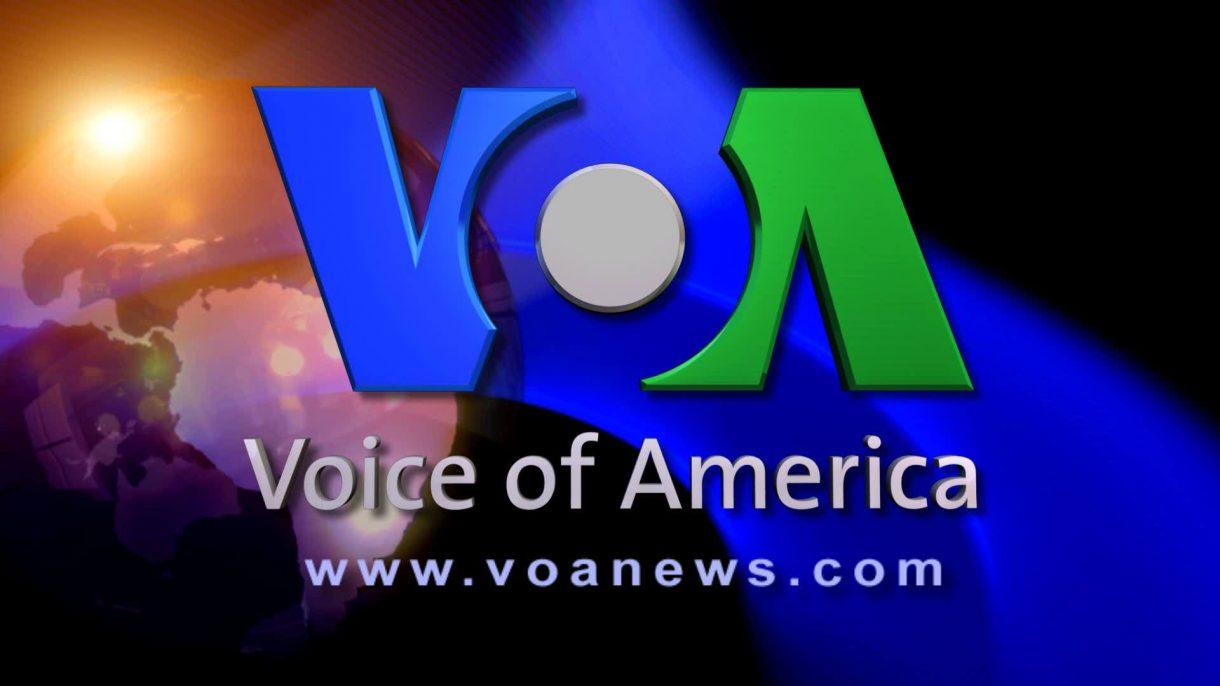 Logo của Đâì Tiếng nói Hoa Kỳ - trung tâm của bài viết luyện nghe tiếng Anh VOA
