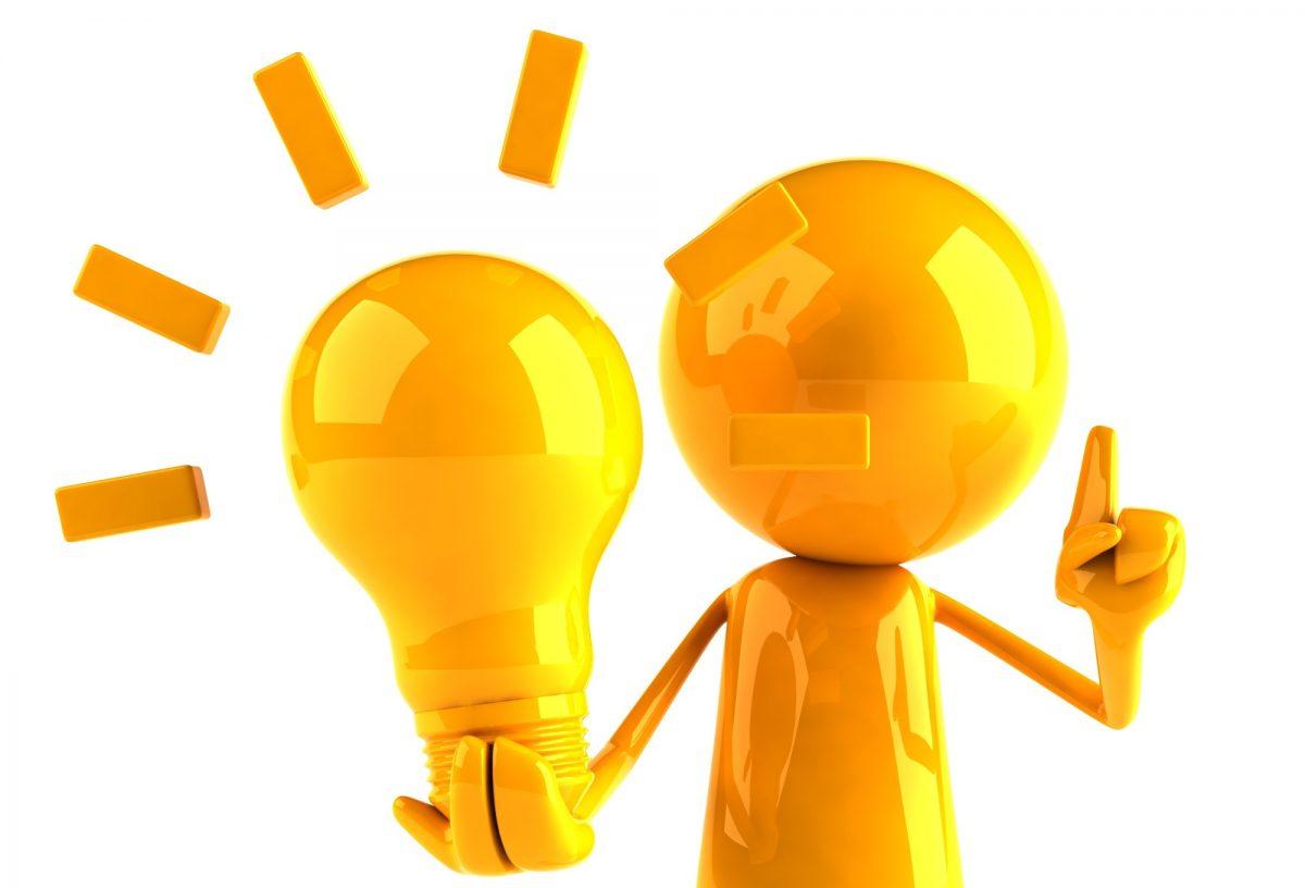 một người đnag cầm một chiếc đèn đang sáng - hình ảnh minh họa cho các mẫu câu và các từ vựng tiếng anh về cách đưa ra ý kiến
