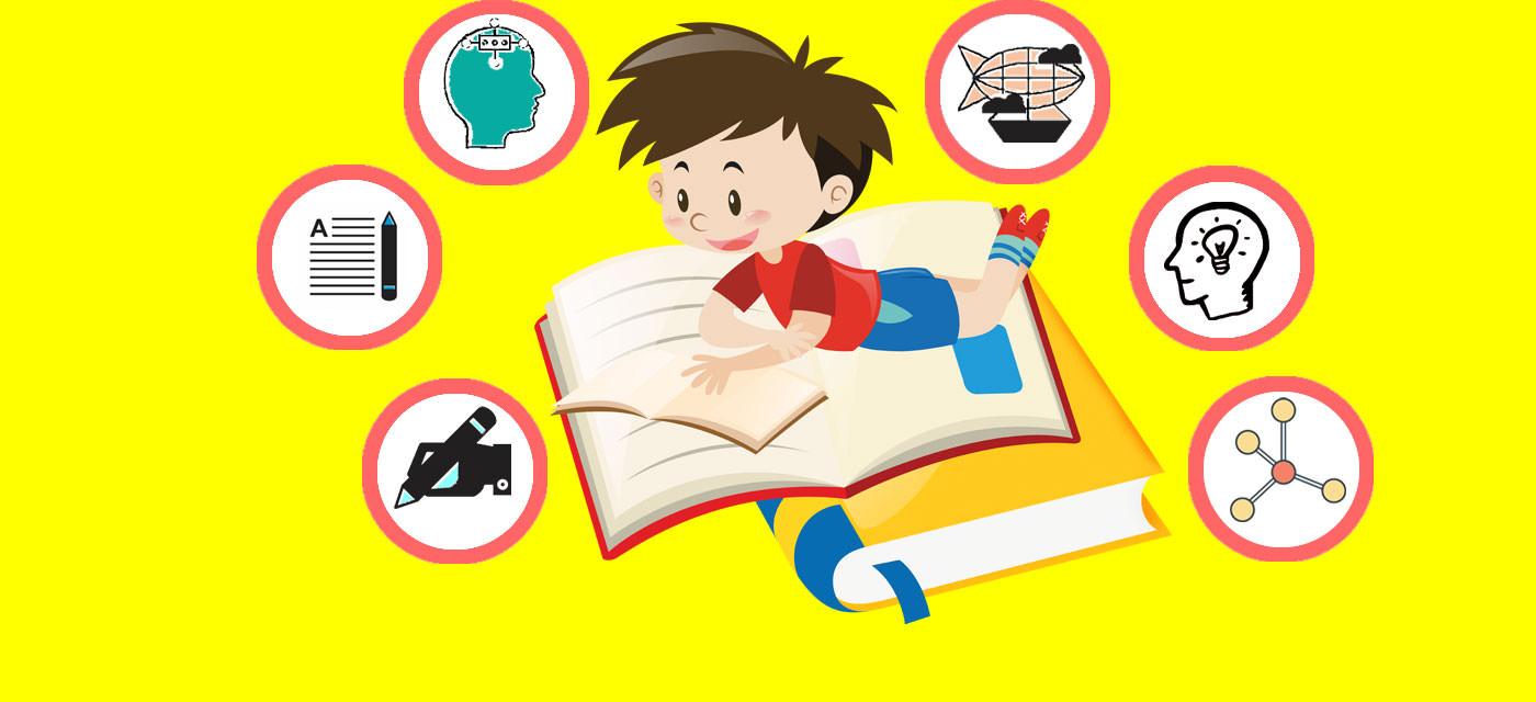 một cậu bé đang đọc sách và hiểu thông tin mà sách đưa ra