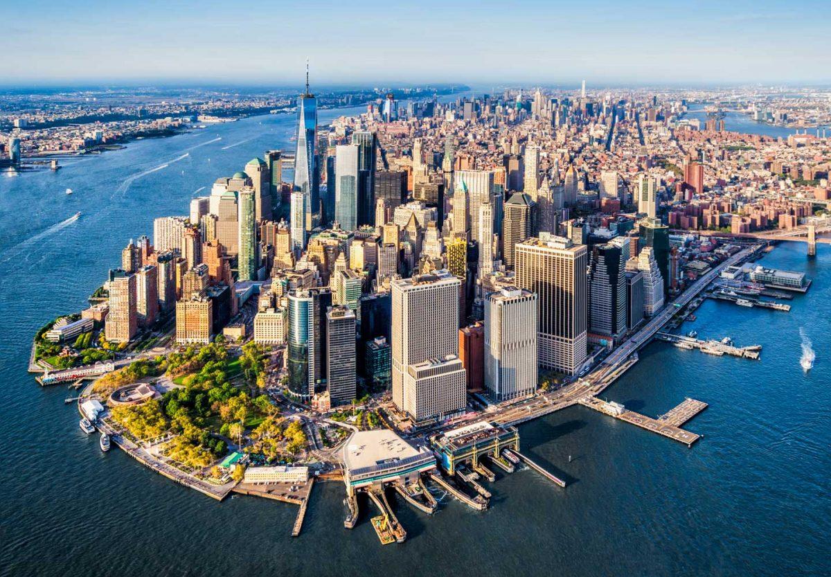 một góc thành phố New York từ trên cao