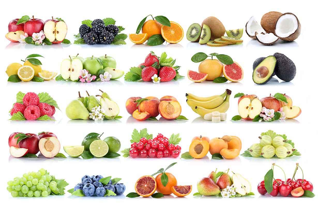 các loại hoa quả khác nhau với tên riêng của chúng trong tiếng Anh