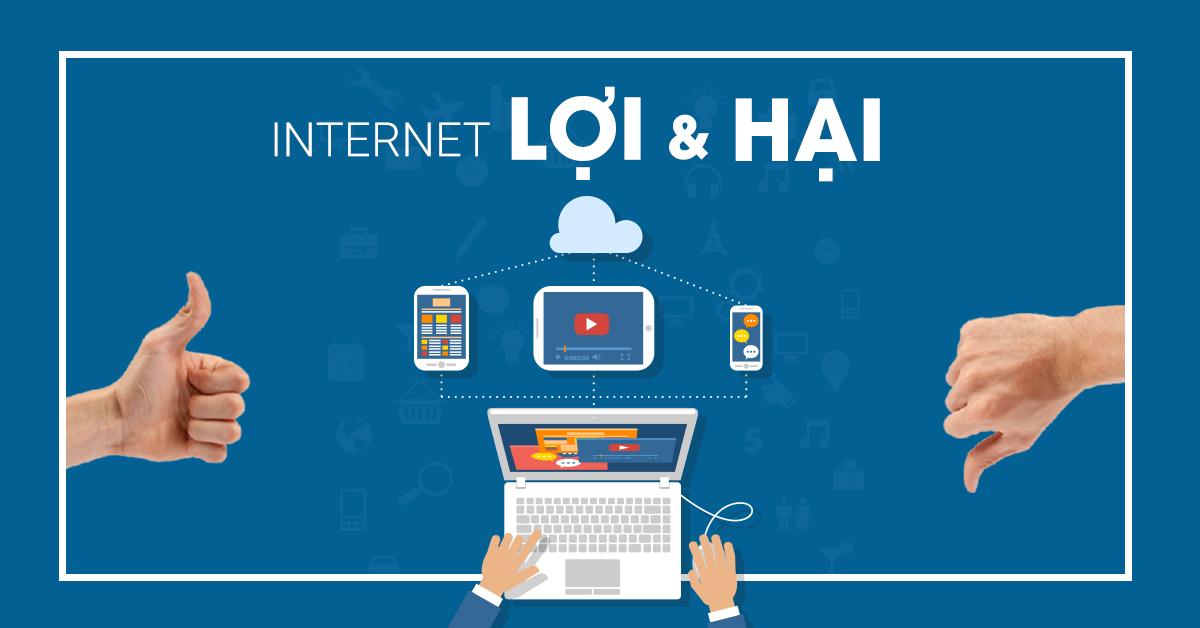 Bàn về lợi ích và tác hại của Internet trong bài luận tiếng Anh theo chủ đề internet