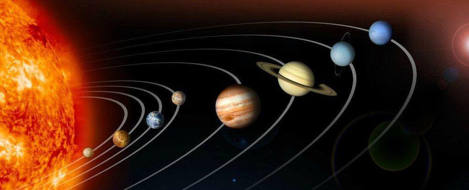 Vũ trụ và các hành tinh trong Hệ Mặt Trời bằng tiếng Anh