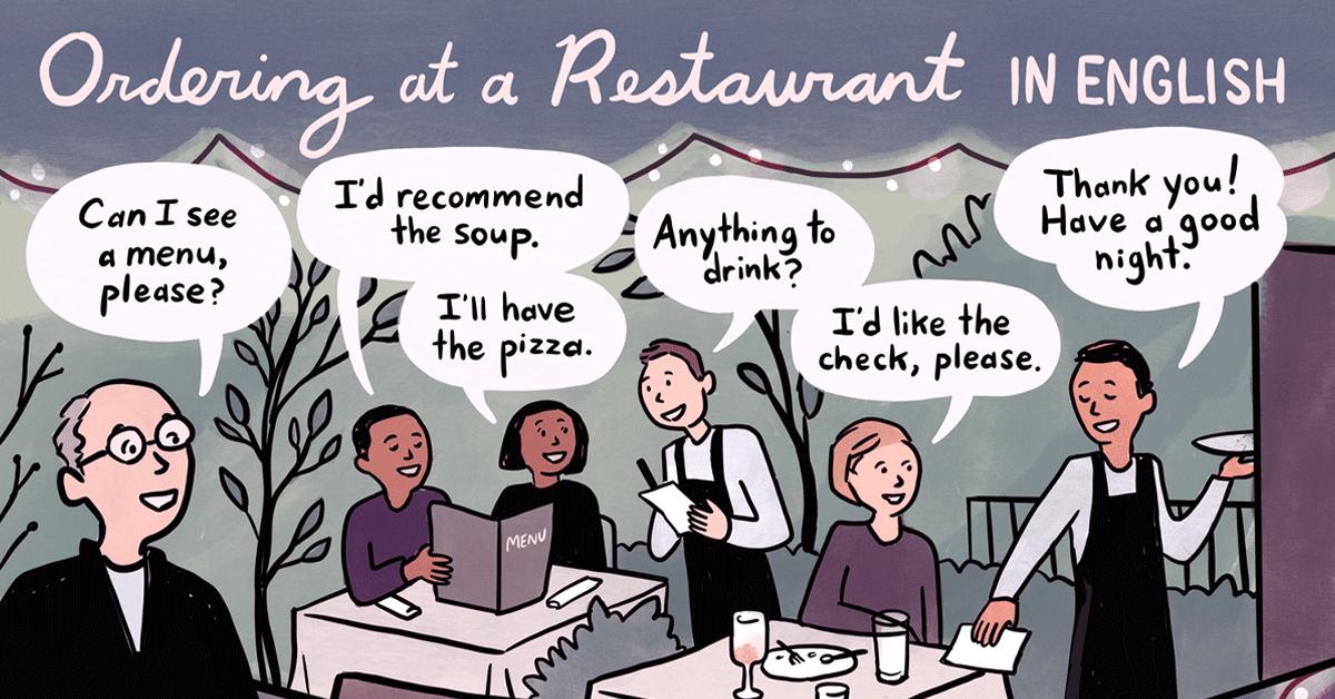 gọi đồ trong nhà hàng bằng tiếng anh