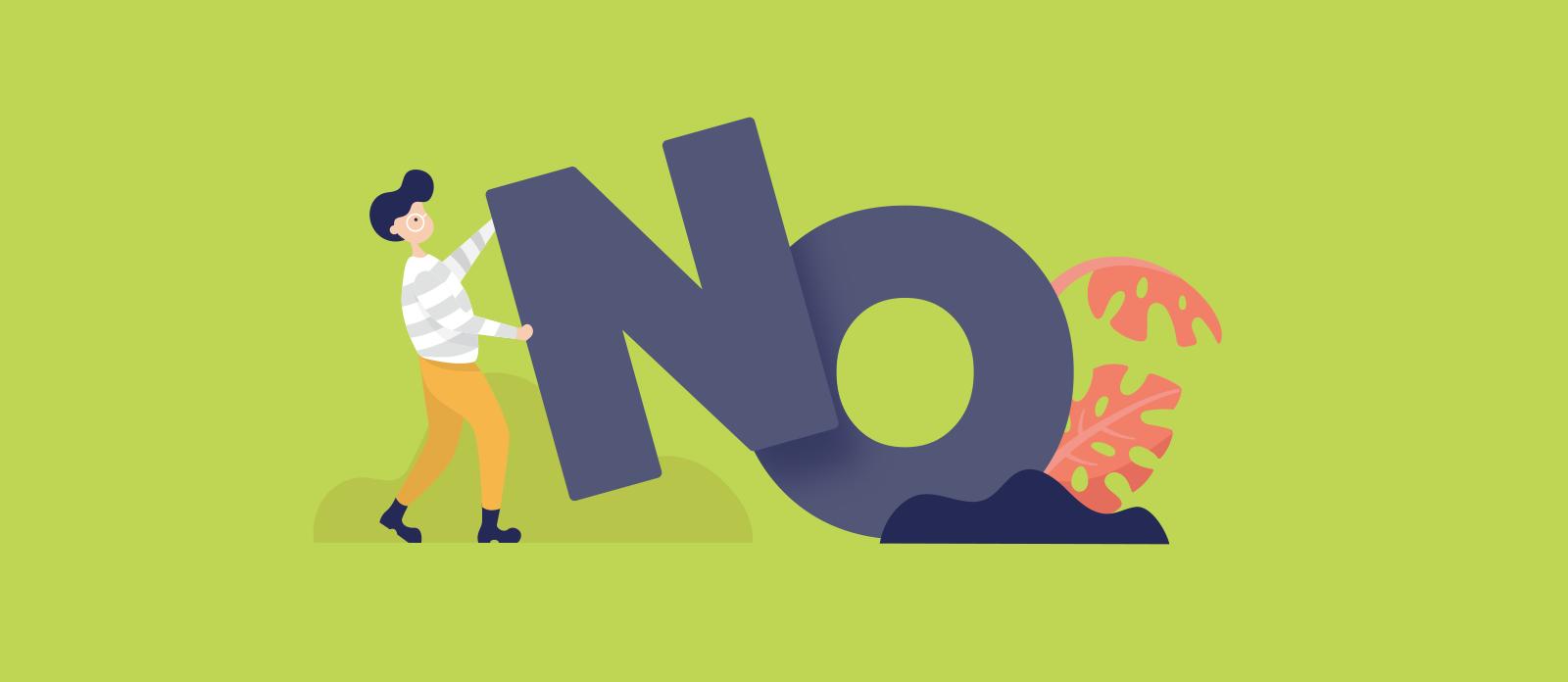 """Đừng mãi nói """"No""""! - Cách nói không trong tiếng Anh"""