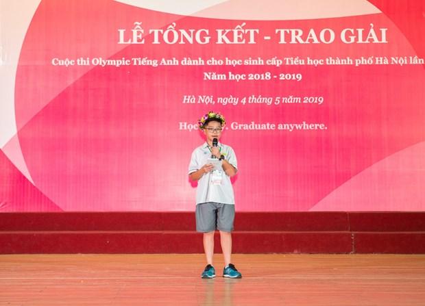 Gần 240 học sinh đoạt giải cuộc thi Olympic tiếng Anh tiểu học