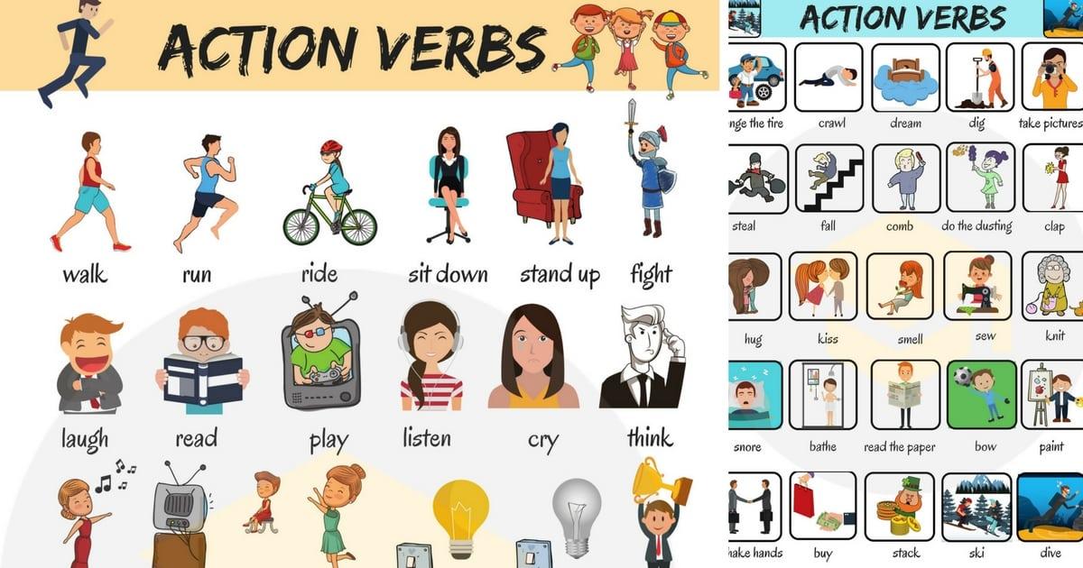 các động từ hành động và động từ tri giác tiếng Anh miêu tả các họat động sống của con người