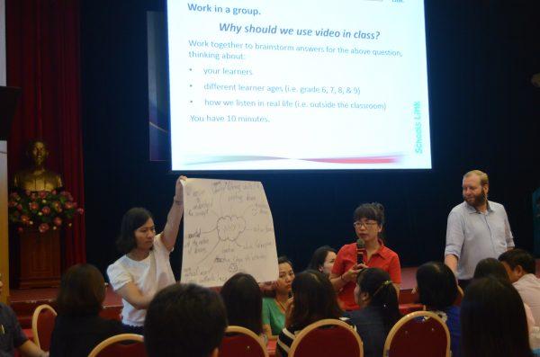 150 giáo viên, chuyên viên tham gia tập huấn ứng dụng công nghệ vào giảng dạy tiếng Anh