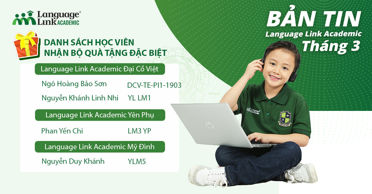 Ban tin thang 3 Language Link Academic