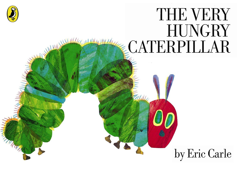"""Bìa cuốn sách nổi tiếng """"The very hungry caterpillar"""""""